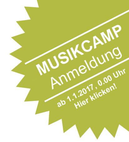 Anmeldung zum 12. BDB-Musikcamp 2017