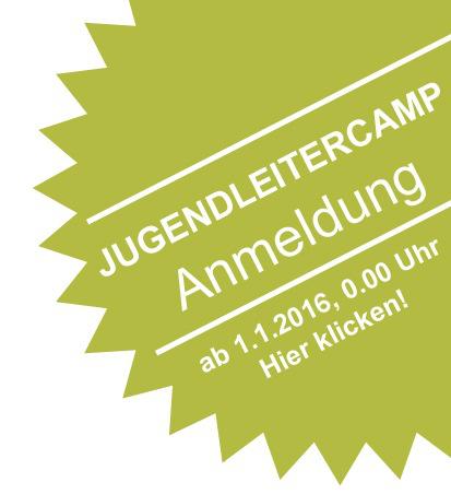 Anmeldung zum 7. BDB-Jugendleitercamp 2016