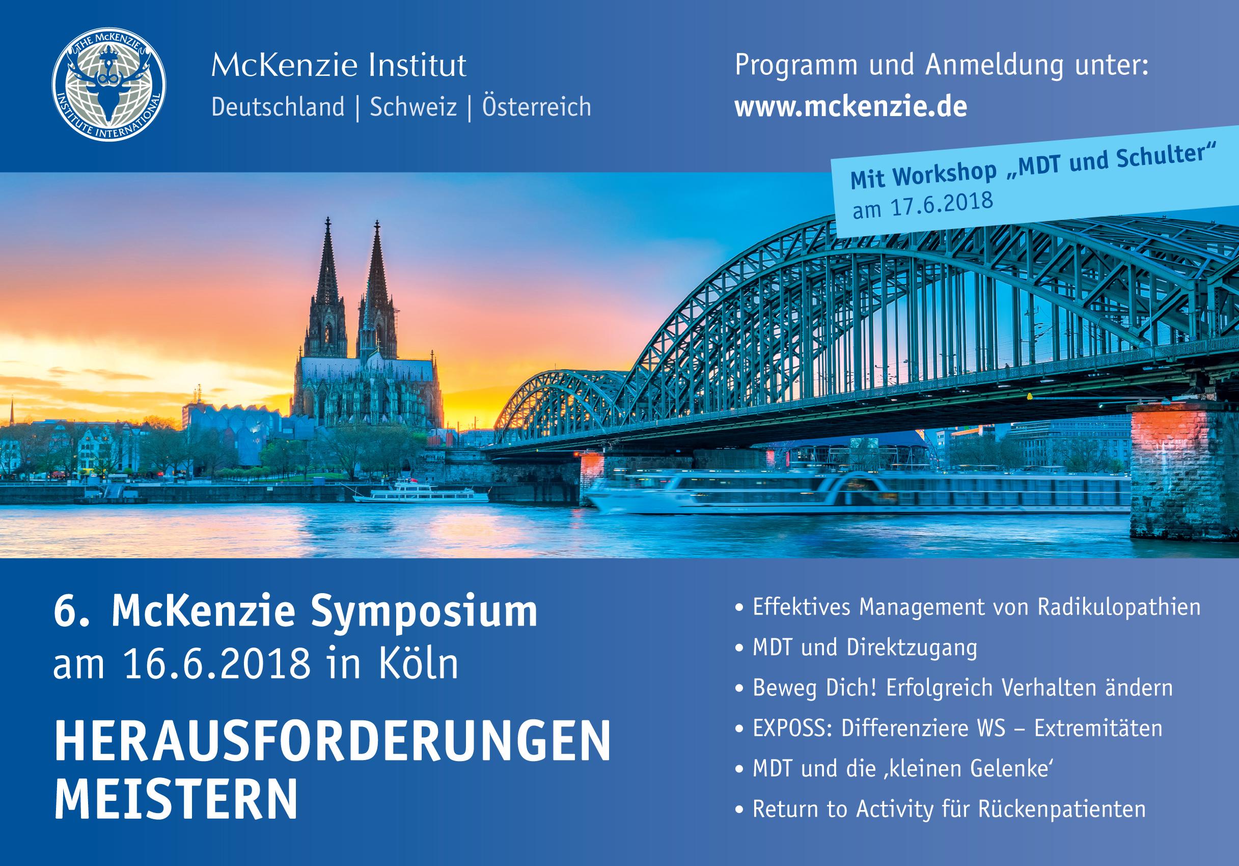 IMDTRF beim McKenzie Symposium in Köln