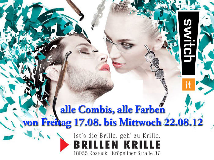 switch-it Trunkshow bei Brillen Krille in Rostock
