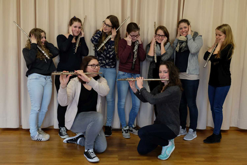 Die nicht stimmbaren Flöten und Oboe